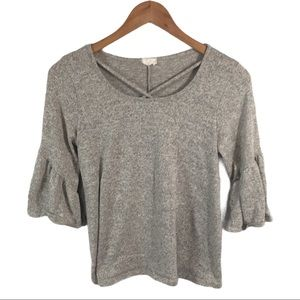WS359 Caution to the Wind Flare Hippie Blouse S